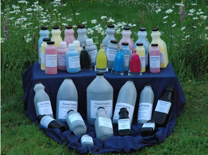 Bottles on grass
